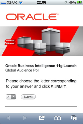 Oracle mobile site